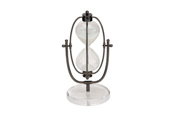 13 Inch Metal Glass Acrylic Sand Timer