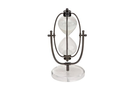 13 Inch Metal Glass Acrylic Sand Timer - Main