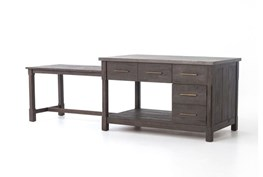Acacia & Concrete Kitchen Island