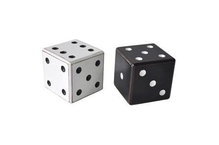 5 Inch Black And White Dice - Main