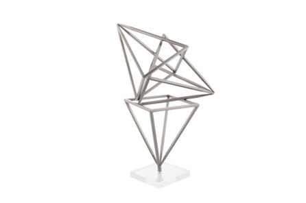 18 Inch Metal Diamond Sculpture