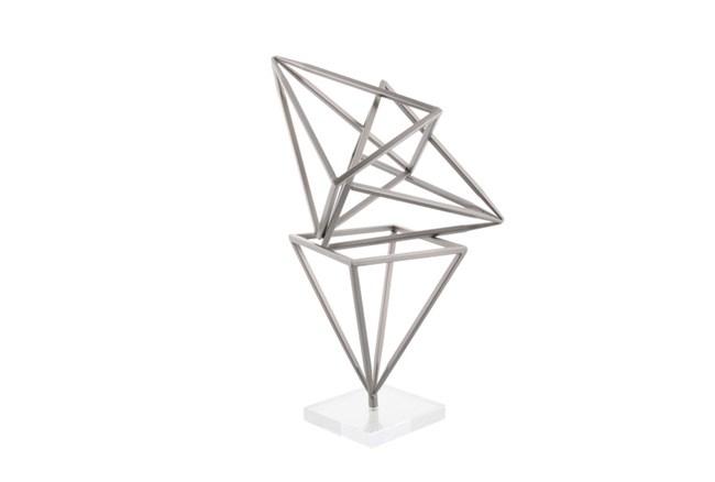 18 Inch Metal Diamond Sculpture - 360