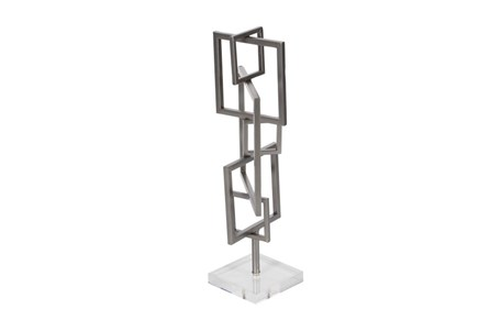 18 Inch Metal Squares Sculpture