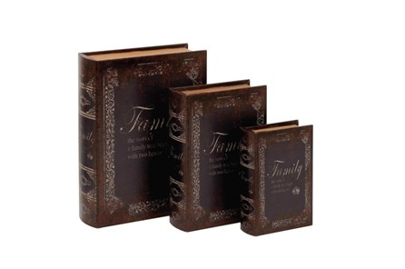 3 Piece Set Family Book Box