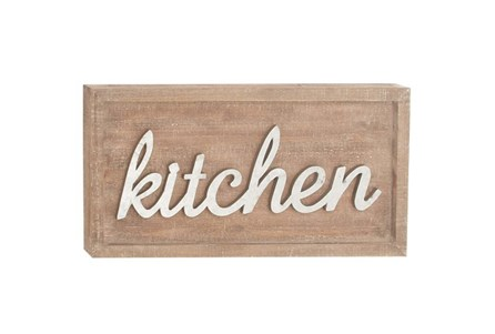12 Inch Mixed Media Kitchen Sign