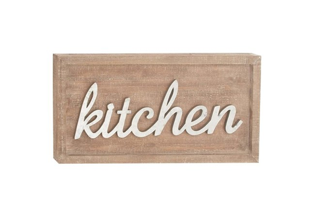 12 Inch Mixed Media Kitchen Sign - 360