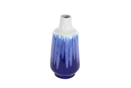 20 Inch Blue Watercolor Vase