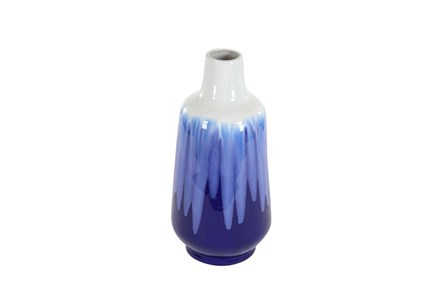 20 Inch Blue Watercolor Vase - Main