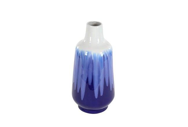 20 Inch Blue Watercolor Vase - 360