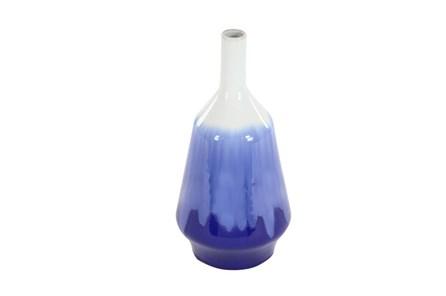 14 Inch Blue & White Vase - Main