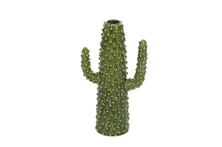 12 Inch Textured Cactus Vase - Main