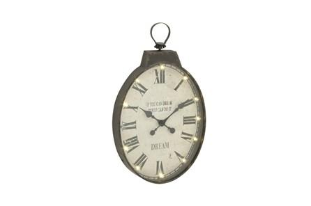 31 Inch Rustic Led Wall Clock - Main