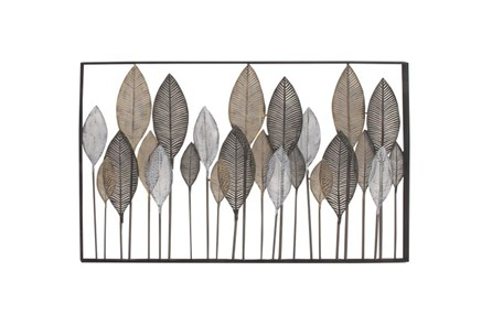 37 Inch Steel Leaf Wall Decor - Main