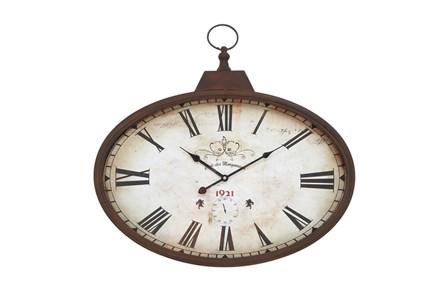 20 Inc Rustic Oval Wall Clock
