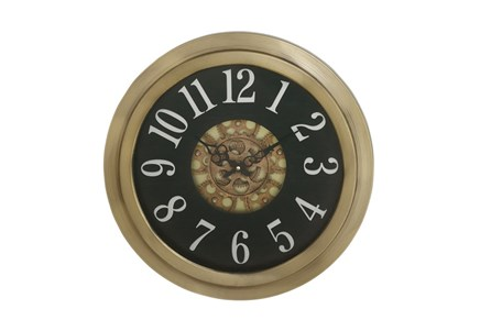 18 Inch Gold Gear Wall Clock
