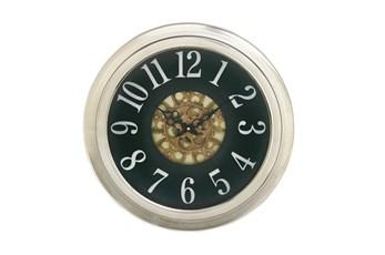 18 Inch Silver Gear Wall Clock