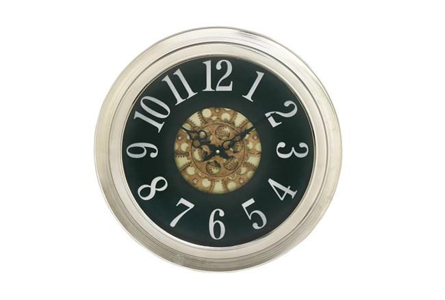 18 Inch Silver Gear Wall Clock - 360