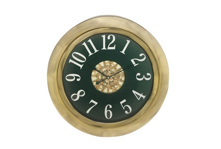 18 Inch Gold Gear Clock