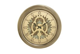 19 Inch Gold Gear Wall Clock