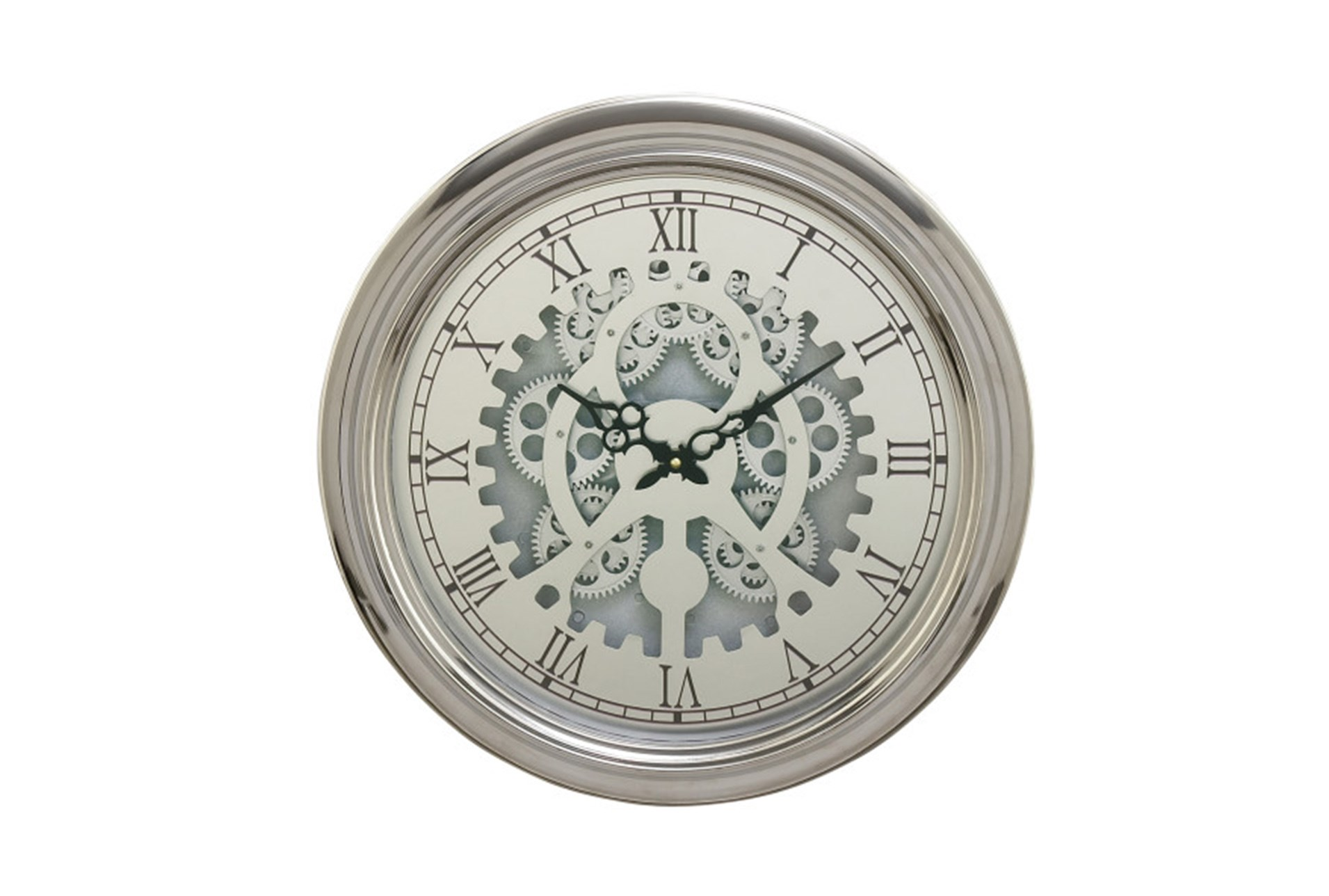 19 Inch Silver Gear Wall Clock Living Spaces