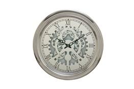 19 Inch Silver Gear Wall Clock