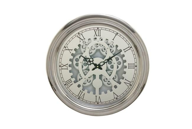 19 Inch Silver Gear Wall Clock - 360