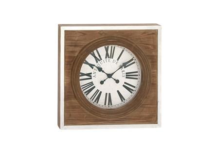24 Inch Light Wood Wall Clock