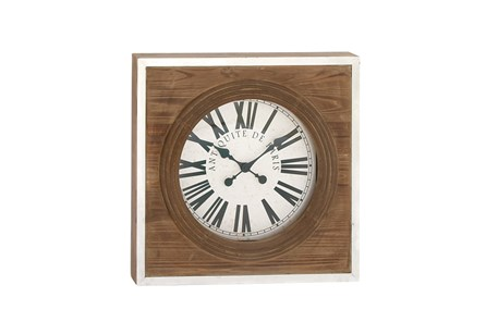 24 Inch Light Wood Wall Clock - Main