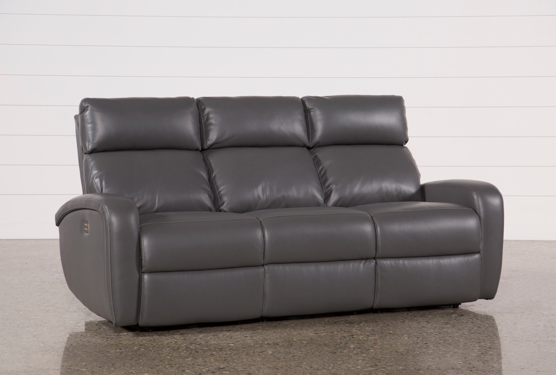 Darwin Graphite Power Reclining Sofa Living Spaces ~ Best Place To Buy Reclining Sofa