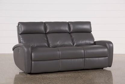 Awe Inspiring Darwin Graphite Power Reclining Sofa Creativecarmelina Interior Chair Design Creativecarmelinacom
