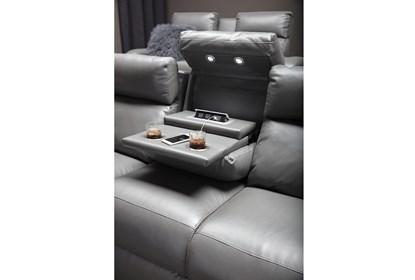 Pleasing Darwin Graphite Power Reclining Sofa Creativecarmelina Interior Chair Design Creativecarmelinacom