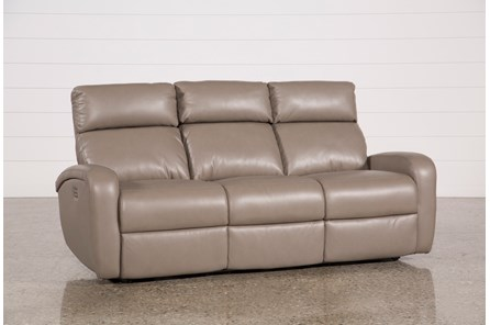 Darwin Taupe Power Reclining Sofa - Main