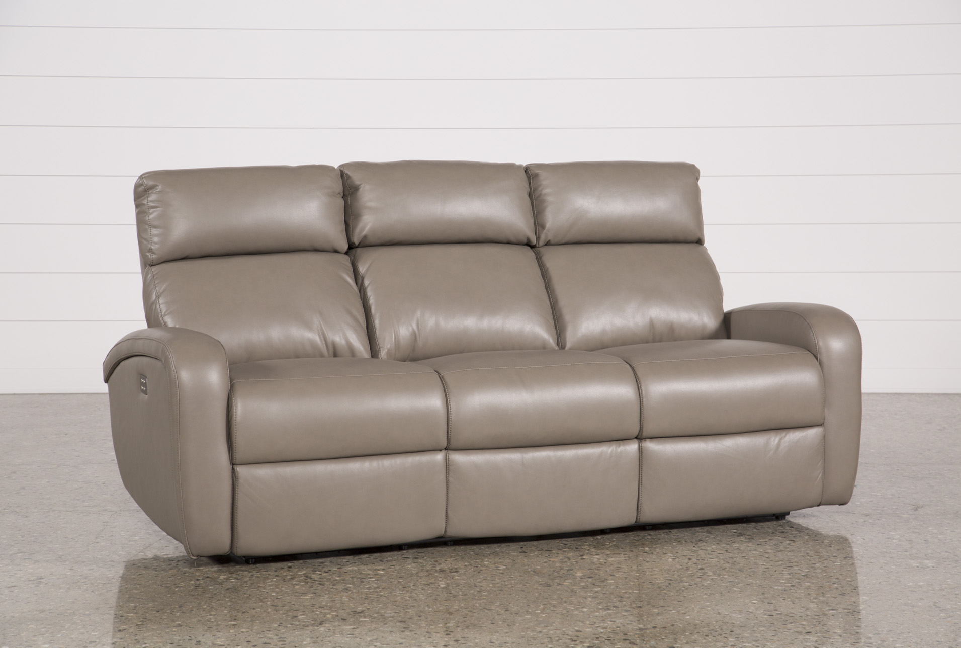 Darwin Taupe Power Reclining Sofa   360