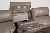Darwin Taupe Power Reclining Sofa - Top