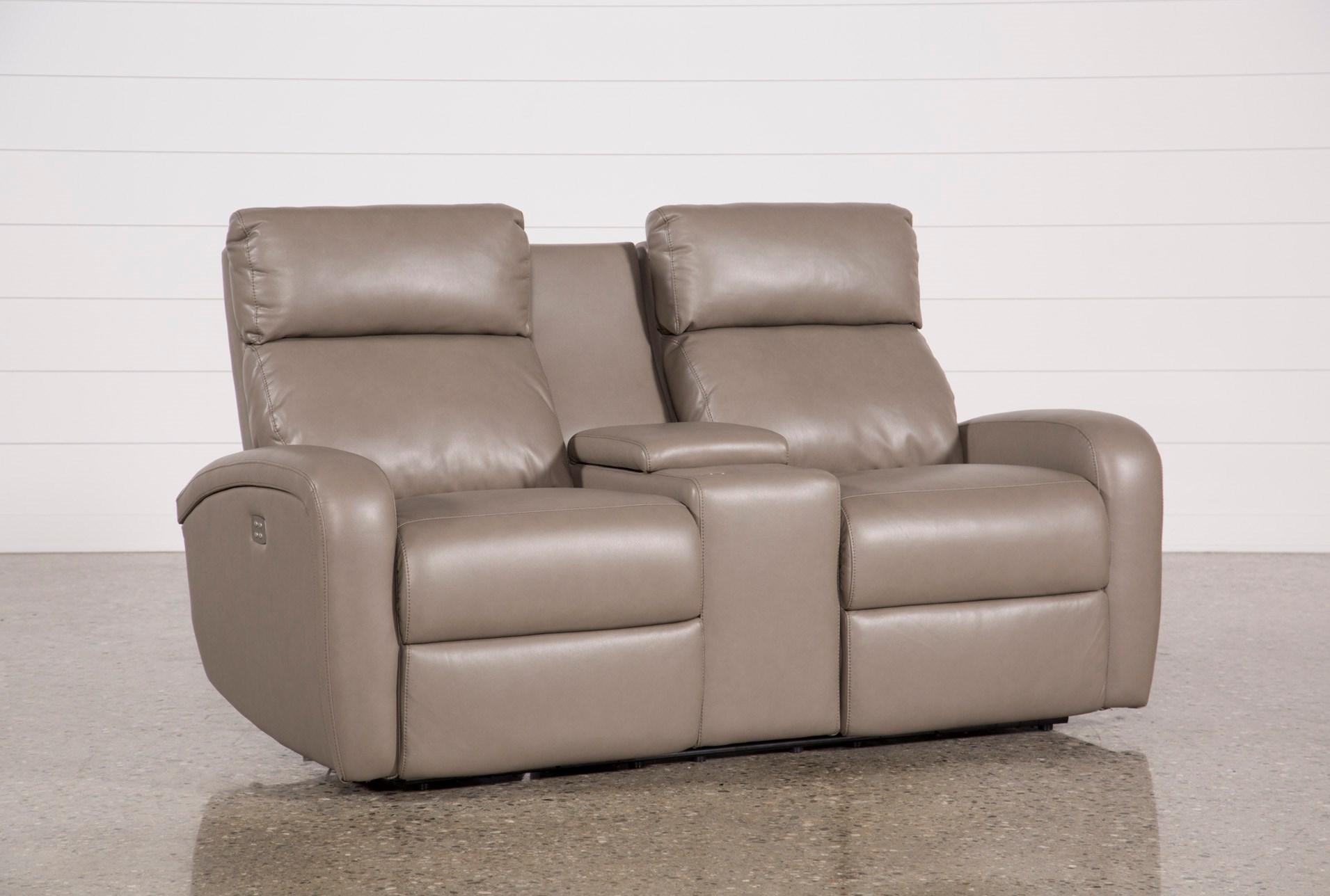 cons with hcge console reclining km and acadia power loveseat ii headrest usb gliding
