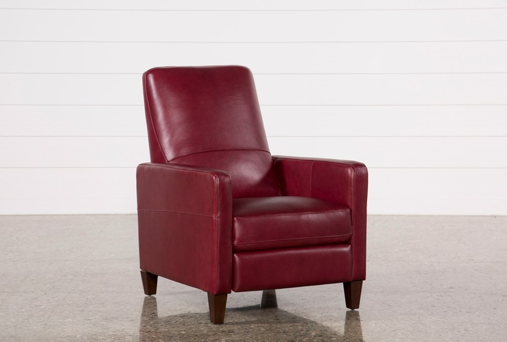 Denny Fire Leather Push Back Recliner