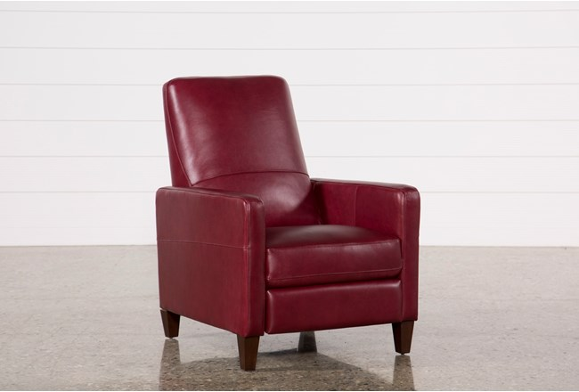 Denny Fire Leather Push Back Recliner - 360