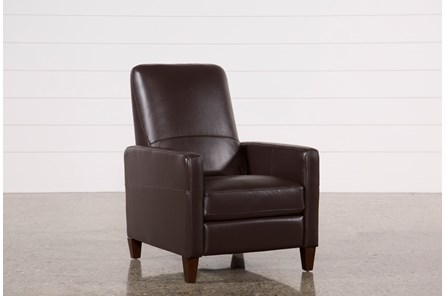 Denny Chocolate Leather Pressback Recliner