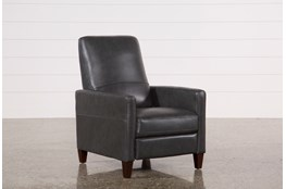 Denny Smoke Leather Push Back Recliner