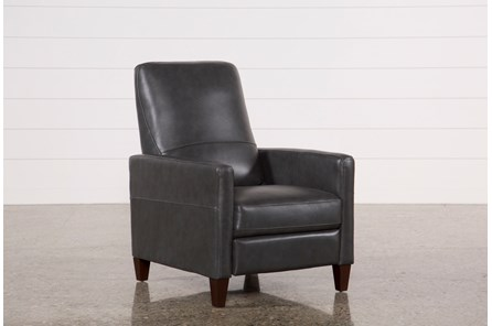 Denny Smoke Leather Pressback Recliner
