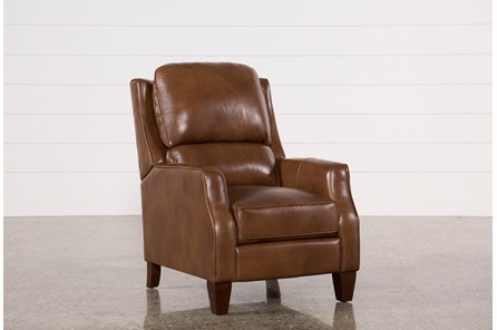 Douglas Caramel Leather High Leg Recliner