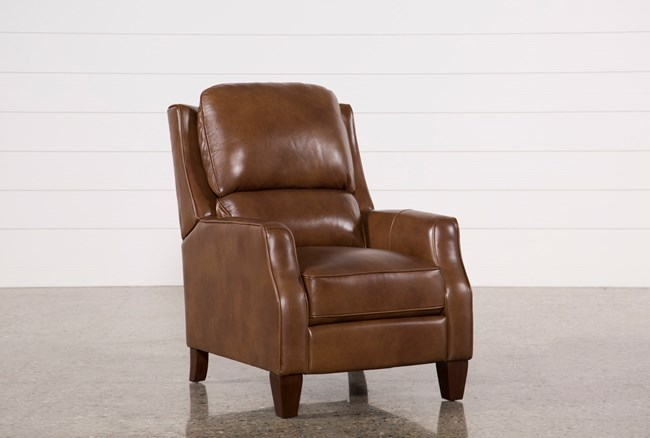 Douglas Caramel Leather High Leg Recliner - 360