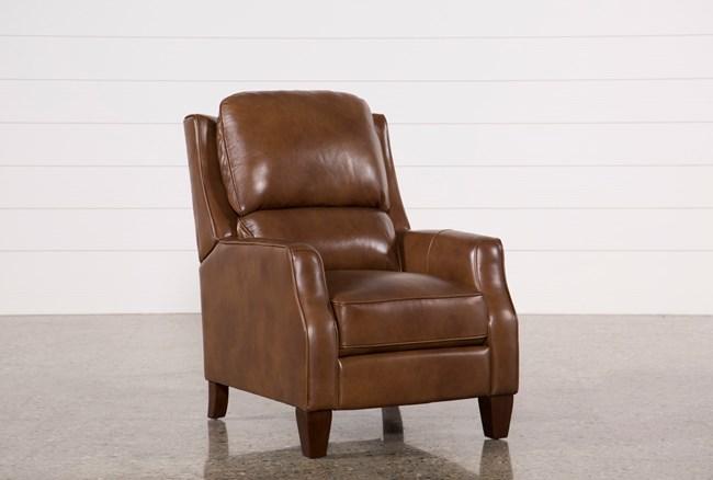 Douglas Caramel Leather High Leg Recliner - 360