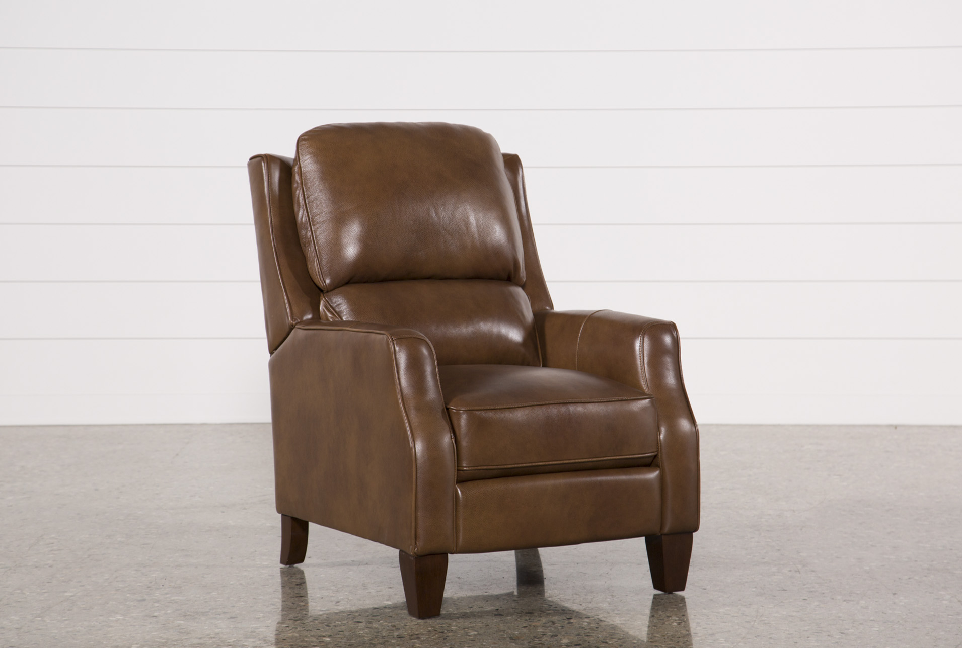 Douglas Caramel Leather High Leg Recliner (Qty: 1) Has Been Successfully  Added To Your Cart.
