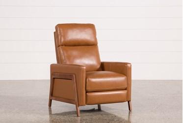 Daniel Nutmeg Leather Push Back Recliner