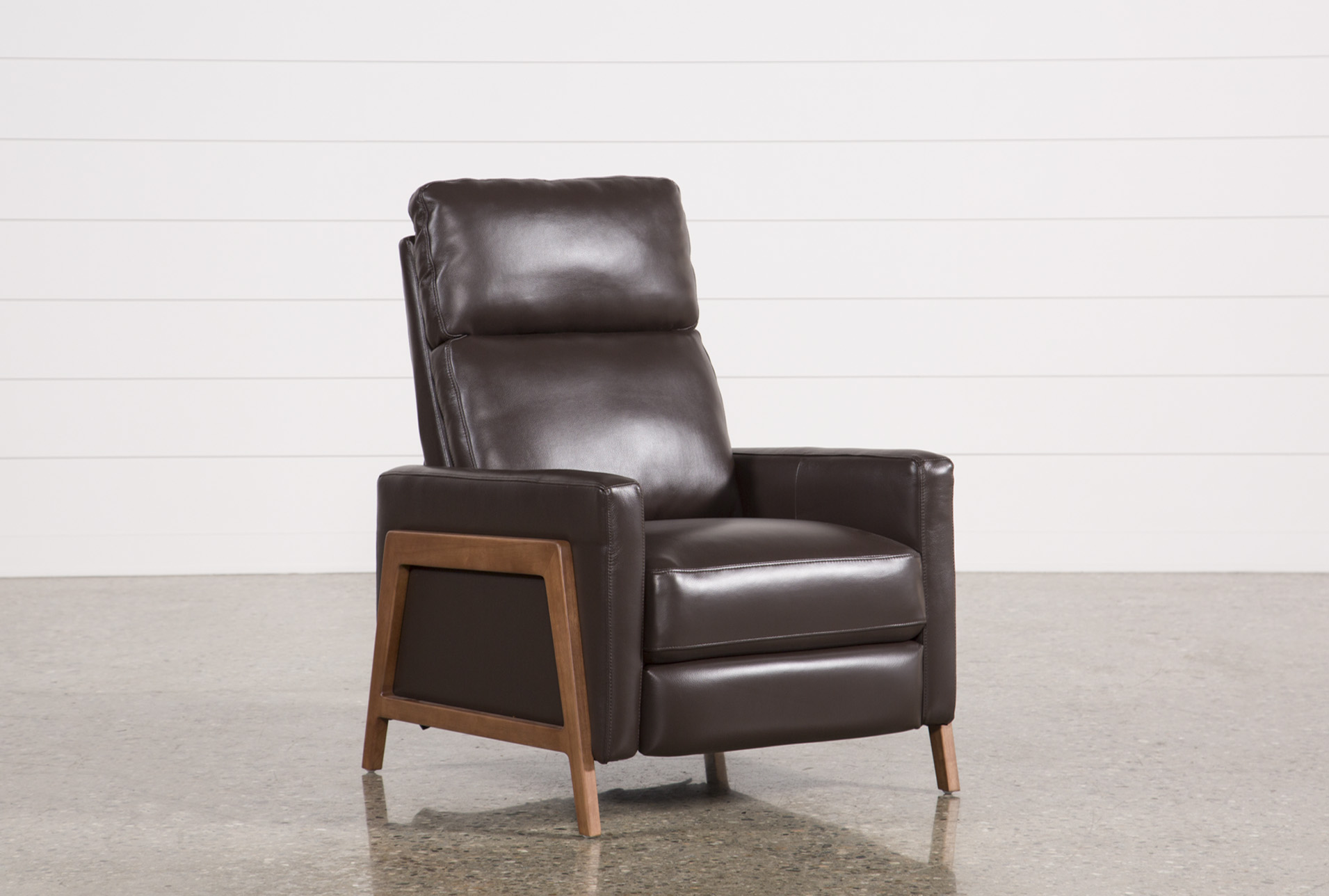 Display Product Reviews For DANIEL CHOCOLATE LEATHER PRESSBACK RECLINER