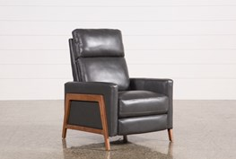 Daniel Smoke Leather Pressback Recliner