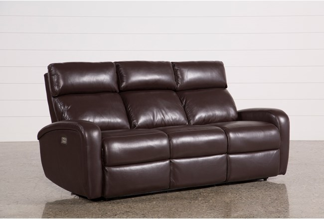 Darwin Chocolate Power Reclining Sofa - 360