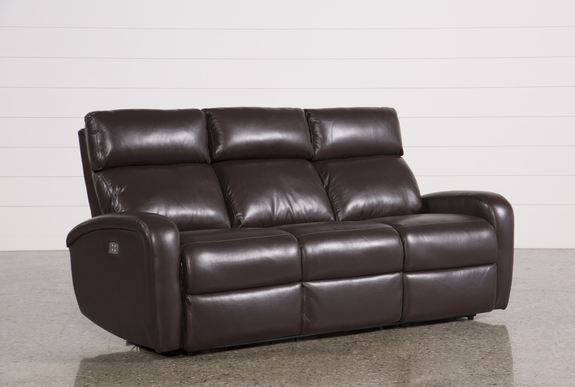 Darwin Chocolate Power Reclining Sofa (Qty: 1) Has Been Successfully Added  To Your Cart.