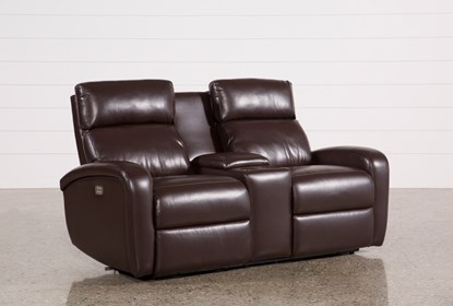Incredible Darwin Chocolate Power Reclining Loveseat W Console Andrewgaddart Wooden Chair Designs For Living Room Andrewgaddartcom
